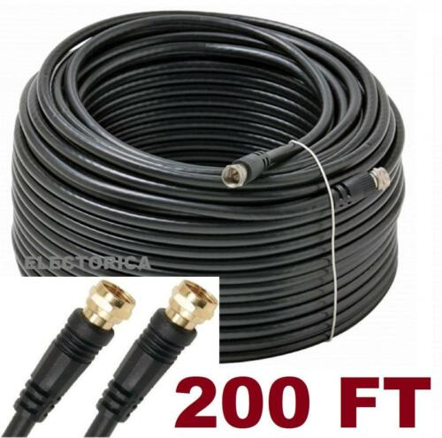 25 50 100 200 FT RG-6 SATELLITE COAXIAL CABLE HD ANTENNA RG6 DISH WIRE COAX TV