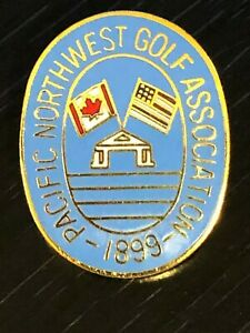 Collectible Vintage Pacific Northwest Golf Assoc Colorful Metal Pinback