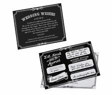 Set of 48 Black Wishes Cards wedding guest book alternative wedding  guests