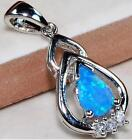 AUSTRALIAN OPAL INLAY, WHITE TOPAZ, GENUINE 925 SOLID STERLING SILVER PENDANT.
