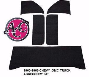 Acc 1960 1966 Chevy Gmc Truck Door Kick Panels Wall Carpet Accessory Kit Ebay
