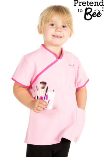 GIRLS KIDS BEAUTICIANS HAIRDRESSERS TUNIC TOP FANCY DRESS COSTUME AGE 3-5-7