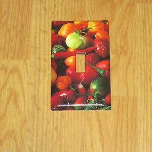 Details About Hot Peppers From Garden For A Country Kitchen Light Switch Cover Plate 1