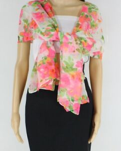 Janie Besner Women's Scarf Pink One Size Watercolor Floral Print $30 038