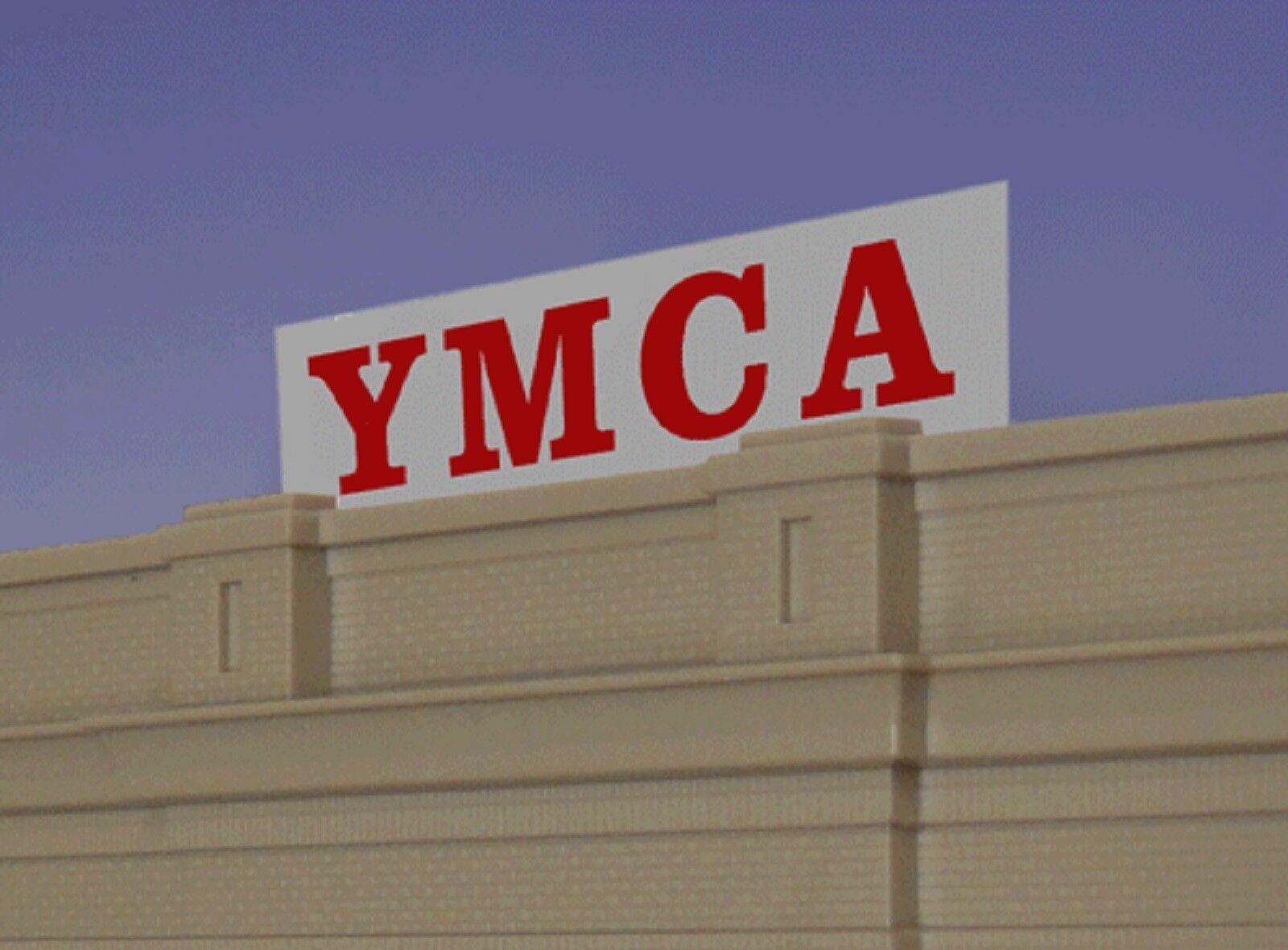 2072 Enseigne animée lumineuse Miller YMCA HO O 1 87