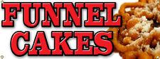 Custom Funnel Cakes Cake Banner Sign For Food Cart Carnival Festival Fair