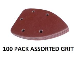 100 X Mixed Grit Mouse Sanding Sheets Black Decker Detail Palm Sandpaper W//O