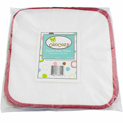 OsoCozy Flannel Cloth Baby Wipes - 30 Pack