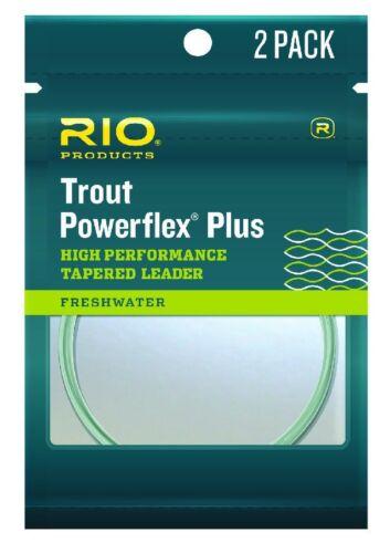 - 12 LB 2 Pack-Taille 7.5 Ft Rio Powerflex plus Leaders environ 2.29 m 2X environ 5.44 kg - New