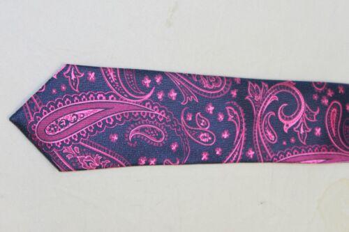 Ted Baker London men/'s Pink Navy Paisley Silk tie MSRP $95