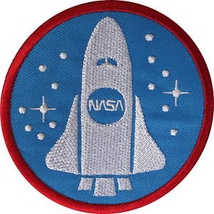 NASA Space Shuttle Iron Sew On Patch Astronaut Fancy Dress Costume Rocket Badge