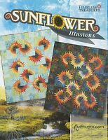 Sunflower Illusions Quilting Pattern, Foundation Paper Piecing From Quiltworx