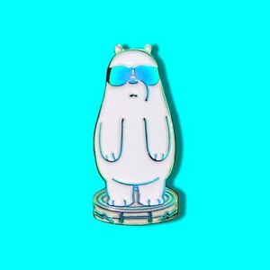Details About Ice Bear We Bare Bears Pin We Bare Bears Pins Ice Bear Roomba Weapon Badge