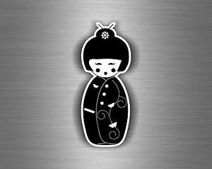 Adesivi-adesivo-sticker-moto-auto-biker-jdm-tuning-kokeshi-bambola-giapponese-r1
