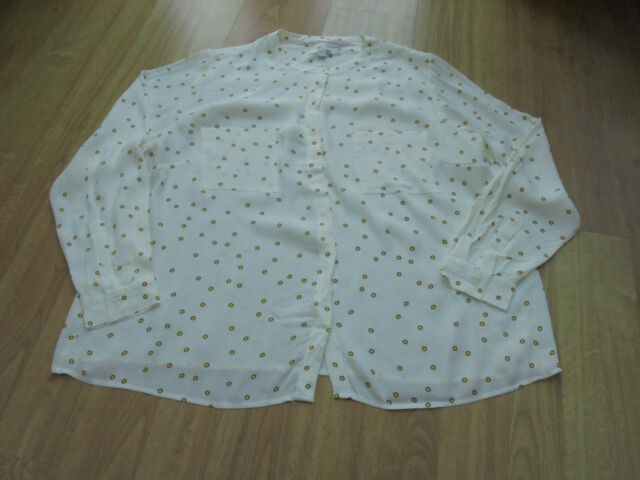 BODEN GREAT  HALEY SHIRT TOP SIZE 22 REG BNWOT IVORY WITH YELLOW SPOT DETAIL