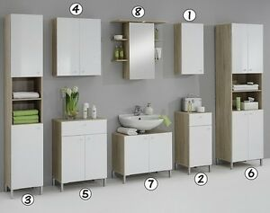 Luxury Bilbao Matching White Washed Oak Bathroom Vanity Unit