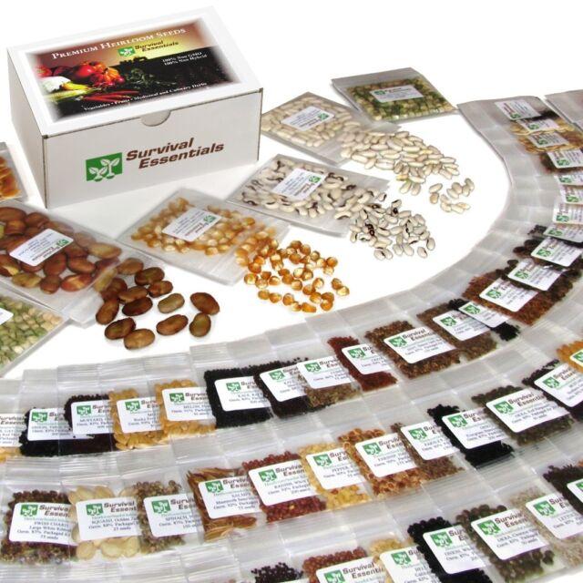 135 Variety Non-Hybrid Non-GMO Heirloom Survival Garden Seed Bank SKU135vABCDEYZ