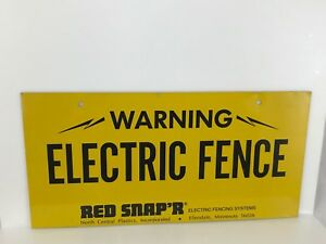 RED-SNAP-039-R-ELECTRIC-FENCING-SYSTEMS-STAINLESS-WARNING-ELECTRIC-FENCE-SIGN