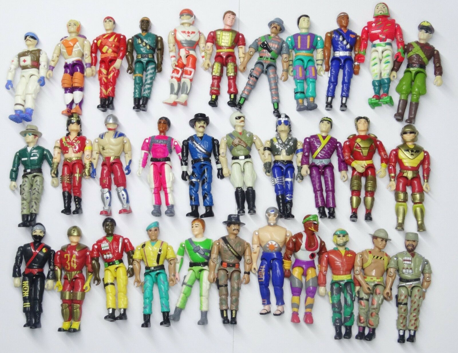 Random Lot 18 LANARD The Corps  different Soldier Military figures hands broken