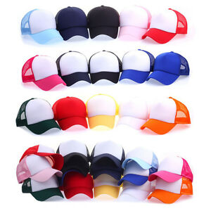 6be6d2dcfcc Unisex Mens Womens Plain Solid Color Airy Mesh Summer Baseball Cap ...