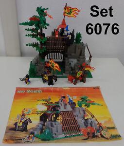 Gioco-Game-LEGO-Castle-1993-Vintage-Completo-Set-6076-1-Drago-Dark-Dragon-039-s-Den