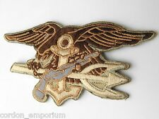 USN US NAVY SEAL TEAM TRIDENT DESERT EMBROIDERED PATCH 4 INCHES NEW!!