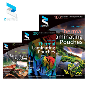 A3/A4/A5 Laminating Pouches Gloss 150/250 Micron Laminator Laminate Sheets