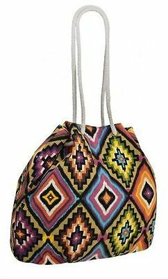 Womens Aztec Print Pattern Canvas Shoulder Handbag Messenger Purse Ladies Bag