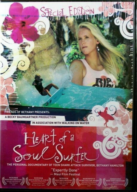 2007 Heart Of A Soul Surfer Dvd Bethany Hamilton Shark Attack Survivor Bonus Cd For Sale Online Ebay