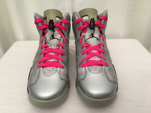 5c9f63c8ce5c9 NIKE AIR JORDAN 543390-009 Girls Retro 6 GS Valentines Basketball ...