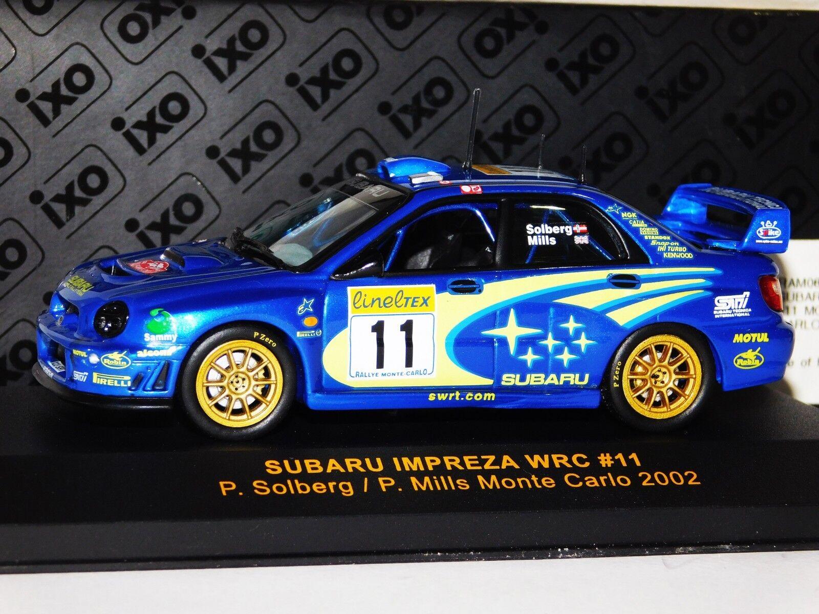 SUBARU IMPREZA WRC #2 LOPES LISBOA RALLY PORTUGAL 2002 IXO JUNIOR 1//43 RALLYE