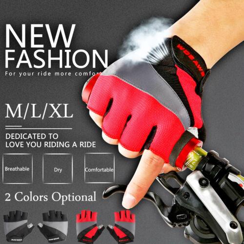 Pair Sport Cycling Gloves Half Finger Bicycle Gel Pad MTB Road Bike Racing 5f