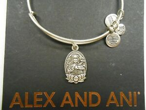 Alex and ani guan yin bangle bracelet rafaelian silver with tag box image is loading alex and ani guan yin bangle bracelet rafaelian thecheapjerseys Gallery
