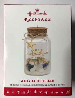 Shells Starfish Sand My Happy Place A Day at the Beach 2016 Hallmark Ornament
