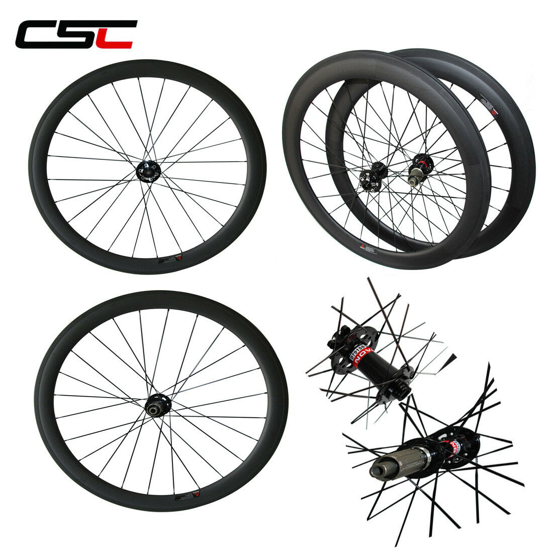 700C Carbon Cyclocross Road Disc Wheelset Novatec 38 50  60 88mm Clincher Tubular  lightning delivery