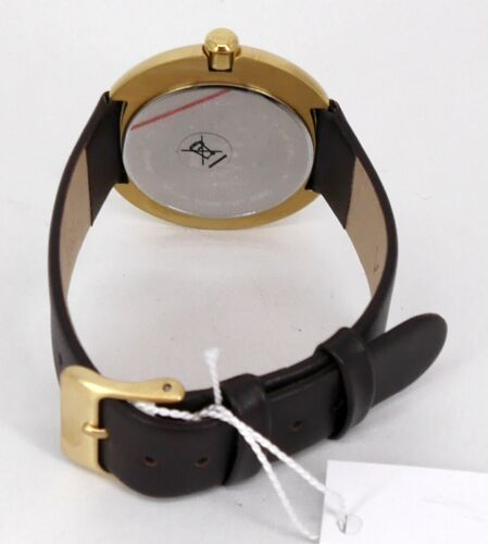 Geschäftsauflösung 139€ M/&M Germany Plum Design Damenuhr vergoldet M11936-512