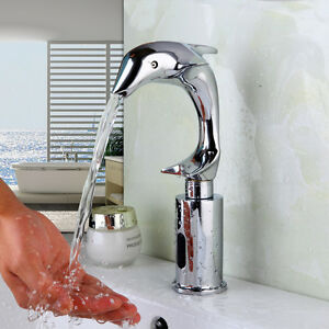 Bathroom Dolphin Automatic Hands Free Sink Tap Sensor Touchless Faucet