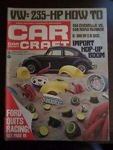 Car Craft Vw >> Details About Car Craft Magazine January 1971 Vw 235 Hp Import Hop Up Boom P Ee Y1 X9 Af