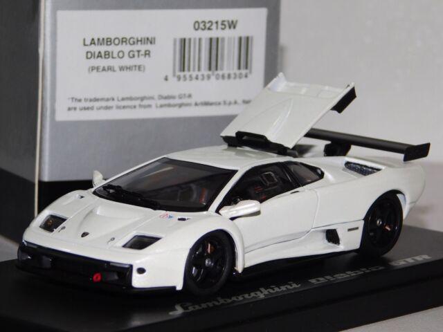 1 43 Kyosho Lamborghini Diablo Gt R Pearl White 03215w For Sale