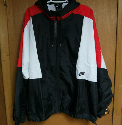 Nike Re-Issue Woven Windbreaker Jacket Black White Red AQ1890-010 Men/'s M-XXL