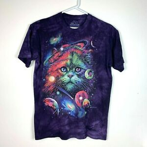 The-Mountain-Rare-Graphic-Cat-Shirt-by-Tami-Alba-Size-Men-039-s-Large