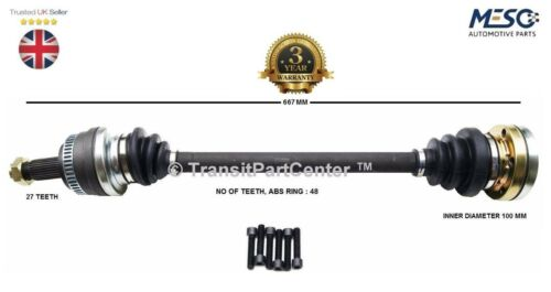 REAR DRIVE SHAFT BMW 1 E81 120d 2006-2011 HATCHBACK RIGHT HAND DRIVER OFF SIDE