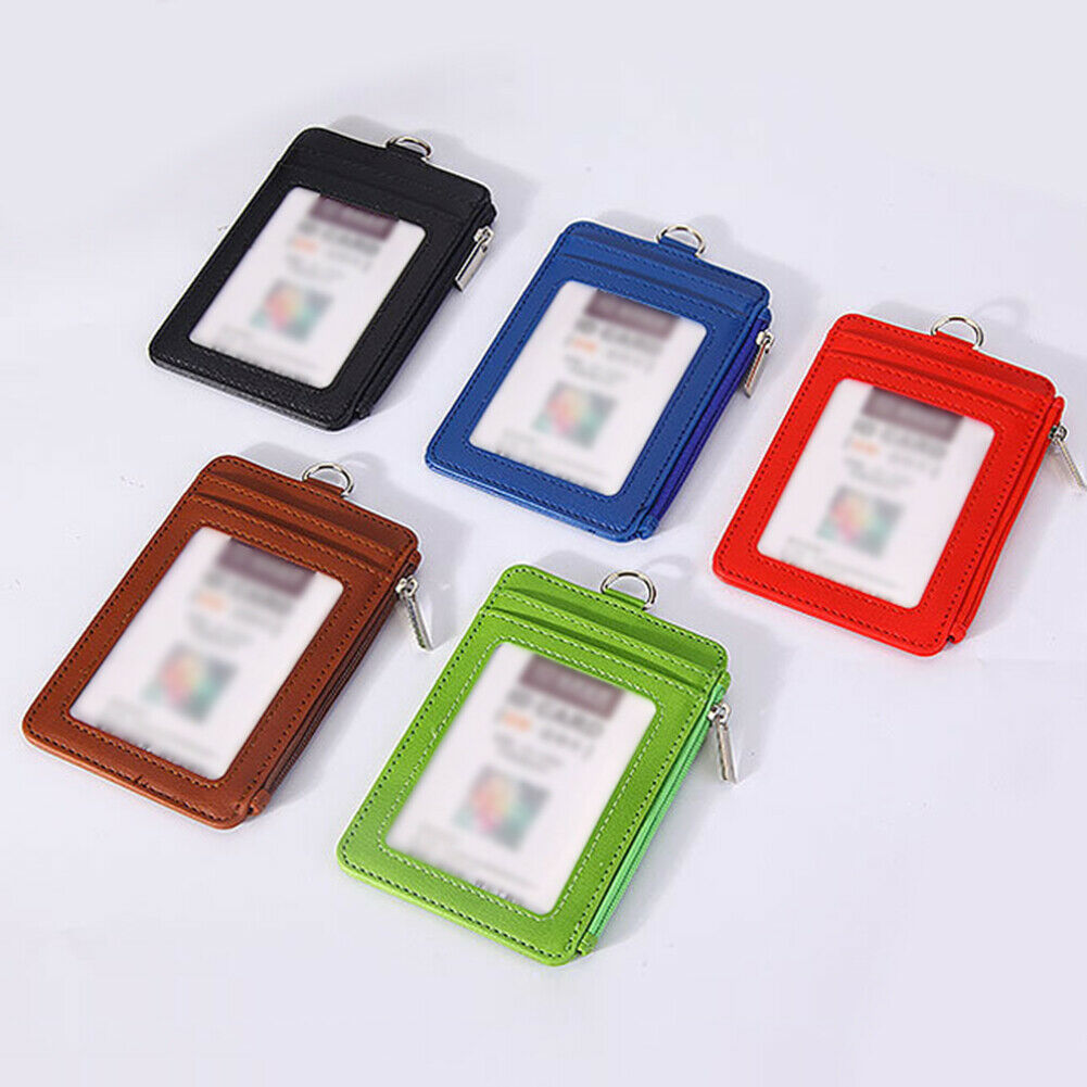 1PC nEW Credit Card Holder With Neck Lanyard Metal For ID Badge,Bus Passes UK