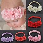 Fashion Chiffon Baby Girl Flower Headband Soft Elastic Hairband Hair Accessories