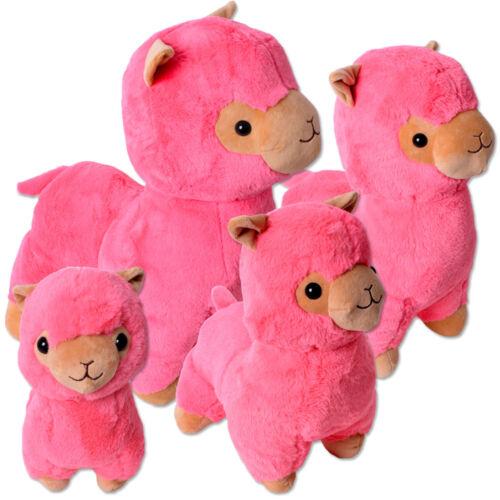 Alpaka Lama Alpaca Plüschtier  Stofftier Kinder Geschenk Rosa Pink 30-65cm