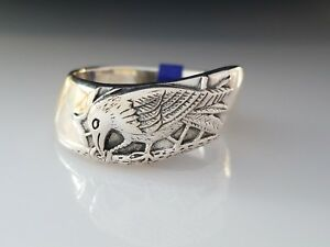 Ted-Andrews-artistic-design-Raven-Ravens-Sterling-Silver-Ring-by-Peter-Stone