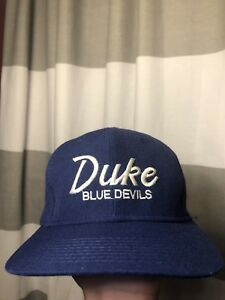 8cb0a2e3c95 Image is loading Vintage-Duke-Univeristy-Blue-Devils-Wool-Script-Snapback-