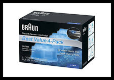4x Braun Syncro Shaver System Clean & Renew Genuine Refills
