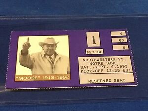 Northwestern-vs-Notre-Dame-College-Football-Ticket-Stub-September-4-1993