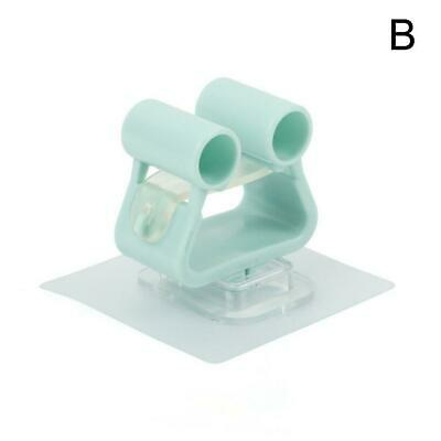 Square Hook Mop Holder Wall Mounted Suction Cup Rag Broom Mop Hot Home O8F6